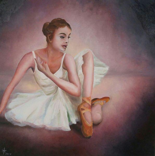 Tanz, Frau, Ölmalerei, Malerei