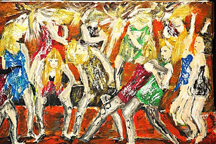 Menschen, Tanz, Party, Malerei