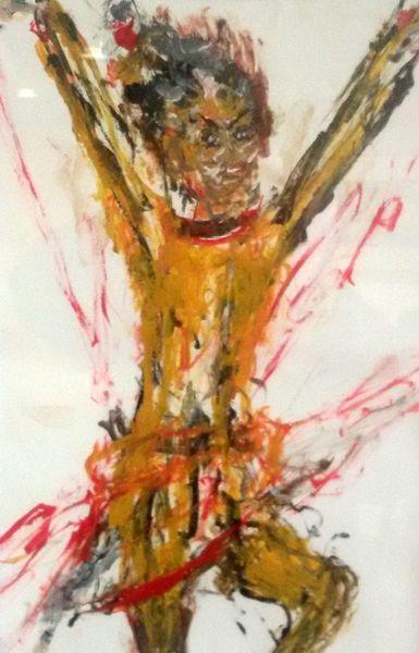 Gegenwartskunst, Lebensfreude, Skizze, Malerei
