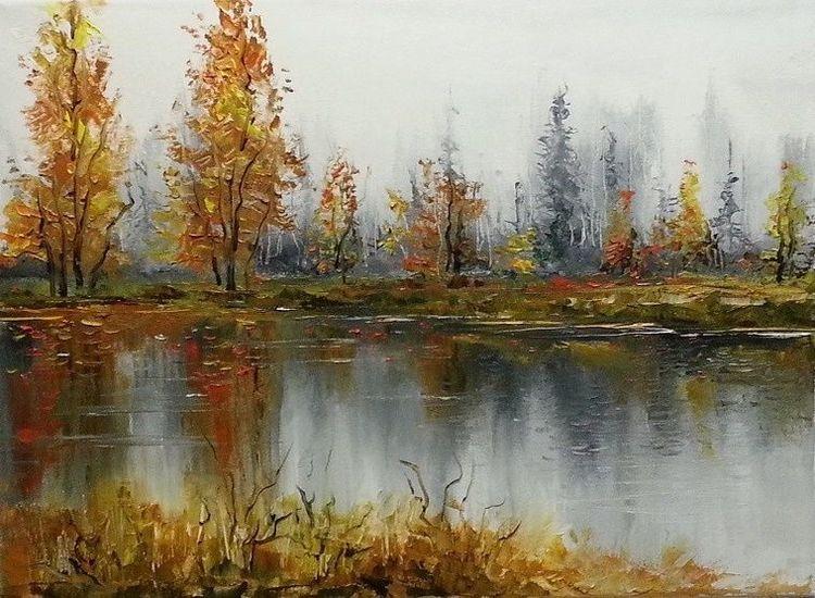 Zeichnung, Malerei, Landschaft, Kunstwerk, Gold, Silber
