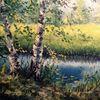 Ölmalerei, Wald, Malerei, Russland