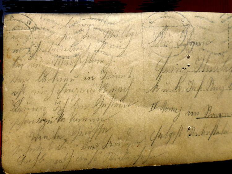 Pinnwand, Schrift