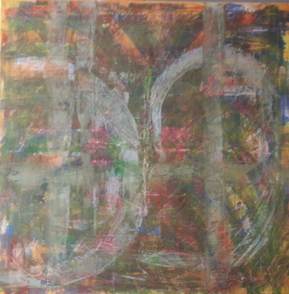 Frühling, Rosa, Schmetterling, Grün, Malerei