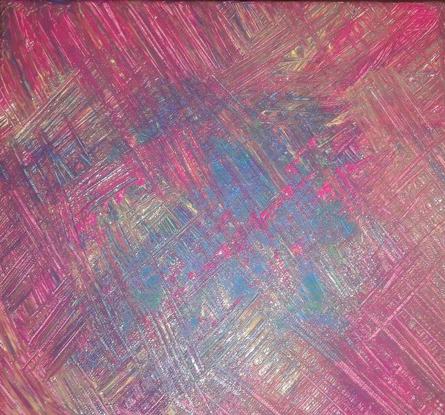 Cyan, Magenta, Acrylmalerei, Spachteltechnik, Malerei