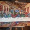 Das letzte abendmahl, Leonardo da vinci, Spachteltechnik, Malerei