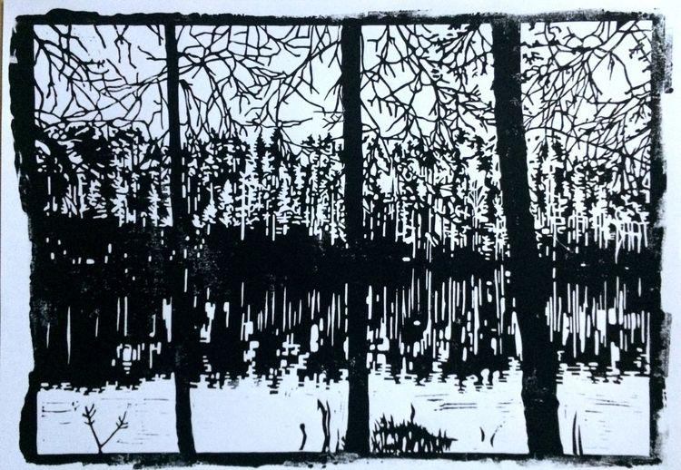 Schatten, Unendlichkeit, Natur, Nebenbeigekritzel, Spiegelung, Fluss
