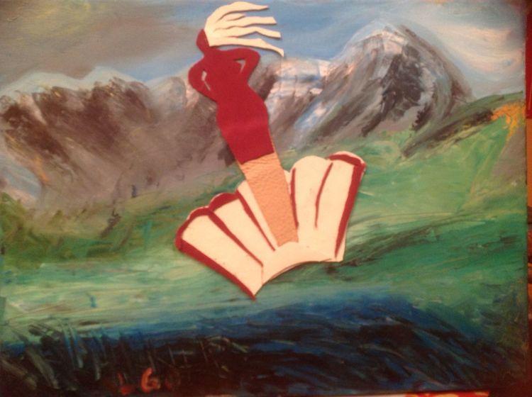 Berge, Mystik, Ölmalerei, Venus, Illustrationen,