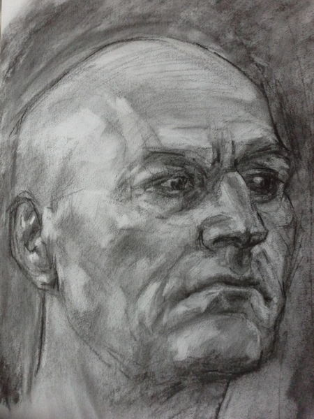 Zeichnung, Anatomie, Portrait, Arbeitszimmer, Zeichnungen, Studie