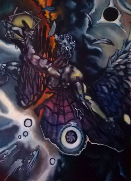 Mann, Symbolik, Surreal, Schwarz, Malerei, Mystik