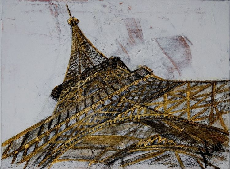 Spachtel, Eiffelturm, Architektur, Turm, Paris, Malerei
