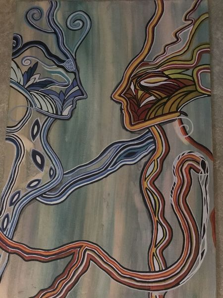 Abstrakt, Malerei, Mischtechnik, Liebe