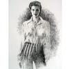 Mode, Transparenz, Frau, Zeichnung