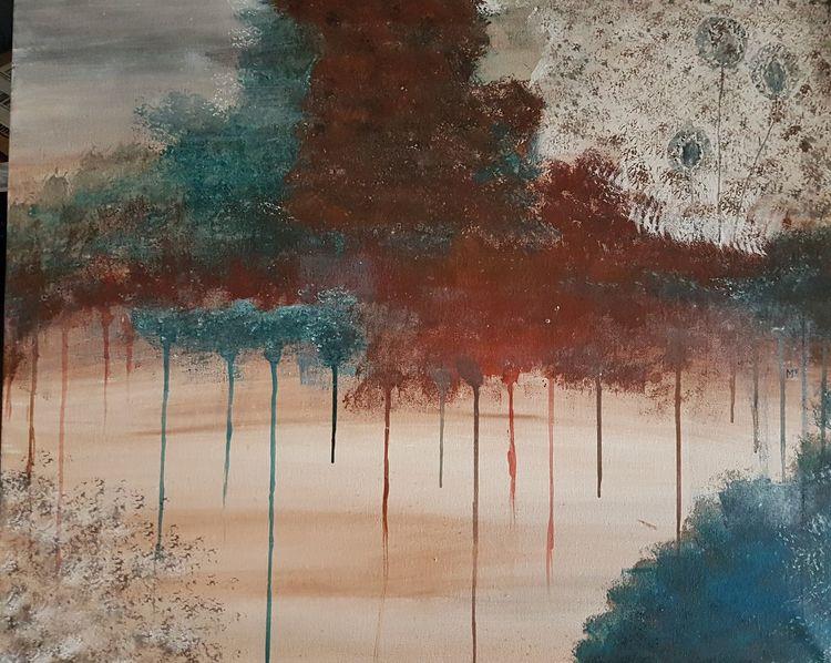 Gefühl, Pusteblumen, Ausdruck, Chaos, Malerei