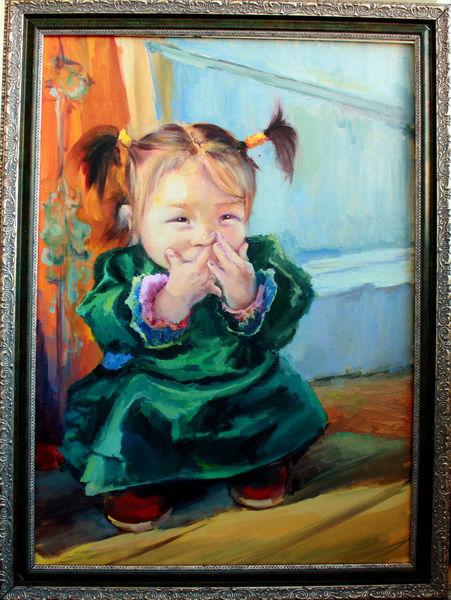 Portrait, Malerei, Mädchen