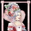 Spielkarten, Turmfrisur, Rot, Rokoko