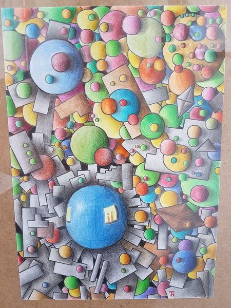 Kreis, Rechteck, Abstrakt, Formen, Zeichnungen, Chaos