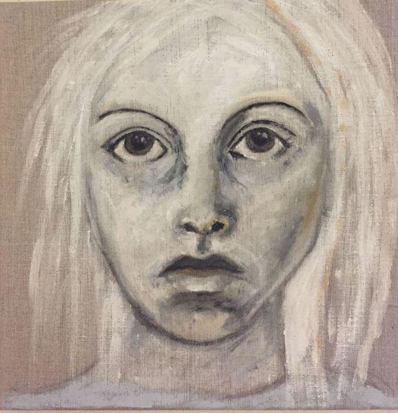 Leinen, Portrait, Frau, Pigmente, Malerei, Göttin
