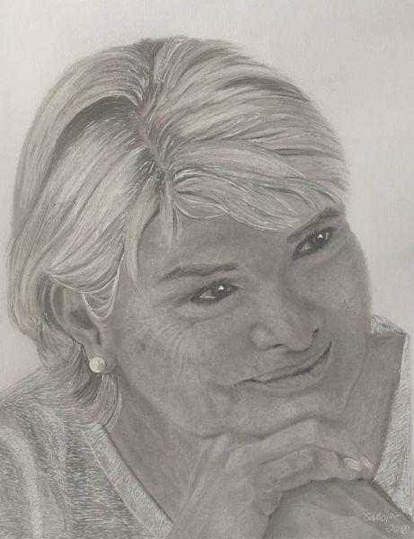 Frau, Bleistiftzeichnung, Zeichnungen, Portrait, Lächeln,