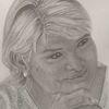 Frau, Bleistiftzeichnung, Zeichnungen, Portrait