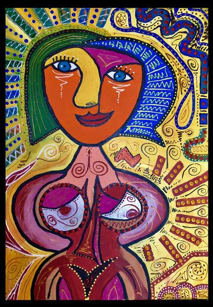 Malerei, Gesicht, Frau, Abstrakt, Körper