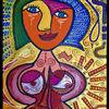Körper, Malerei, Gesicht, Frau