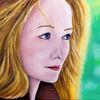 Blaue augen, Portrait, Frau, Rote haare