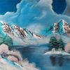 Kalt, Winter, See, Berge