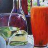 Gaststätte, Wein, Glas, Malerei