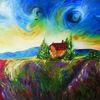 Malerei, Landschaft, Natur