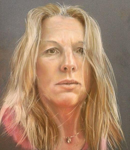 Selbstportrait, Pastellmalerei, Zeichnungen