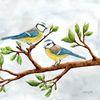 Singvogel, Frühlingsboten, Vogel, Blaumeisen