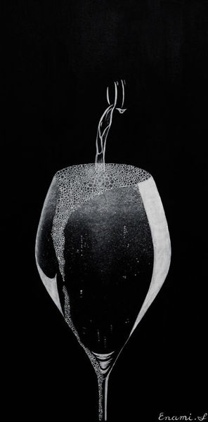 Sekt, Wein, Stillleben, Champagner, Acrylmalerei, Fest