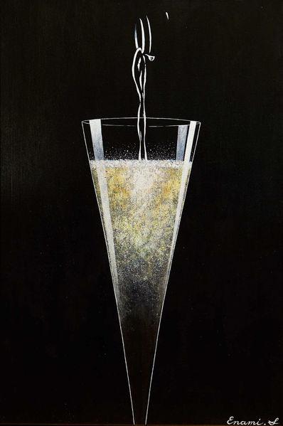 Sekt, Wein, Schaumwein, Schwarz, Champagner, Acrylmalerei