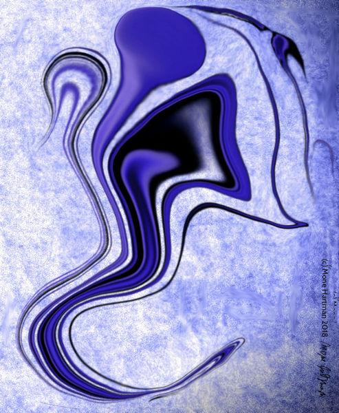 Farben, Gehirn, Tanz, Abstrakt, Digital, Blau