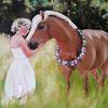 Wiese, Tiere, Licht, Pferde