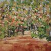 Ölmalerei, Wald, Laub, Herbst