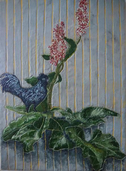 Pflanzen, Gemüse, Hahn, Tiere, Malerei,