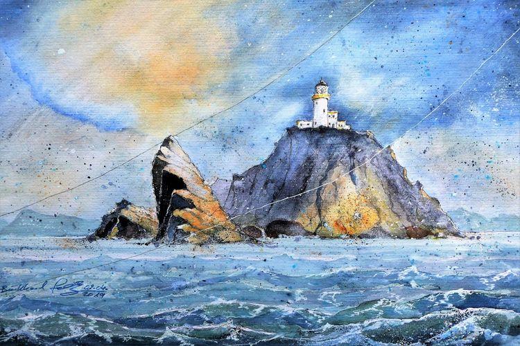 Meer, Highlands, Insel, Küste, Shetland, Schottland