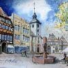 Brunnen, Höxter, Kirche, Fachwerk