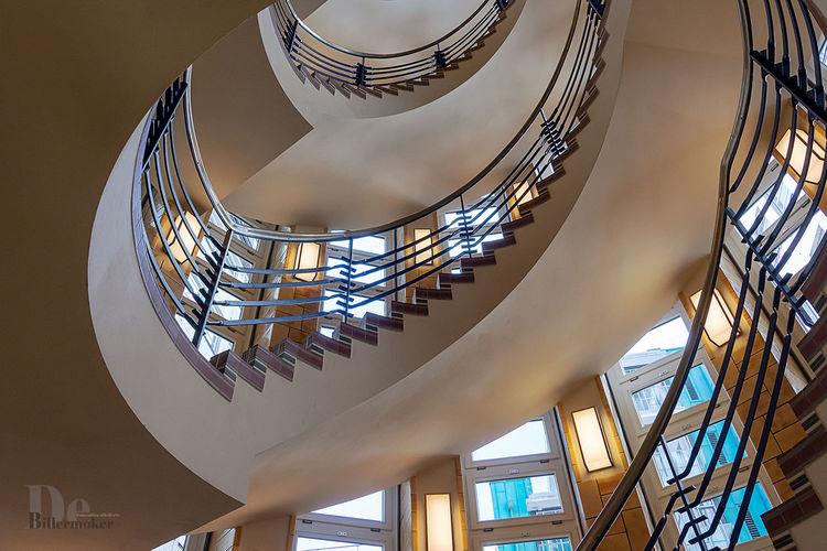 Mosaik, Treppe, Licht, Blau, Hamburg, Fotografie