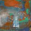 Informel, Abstrakte malerei, Abstrakter expressionismus, Grün orange