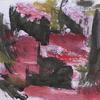 Abstrakte malerei, Abstrakter expressionismus, Schwarz rot gelb, Informel