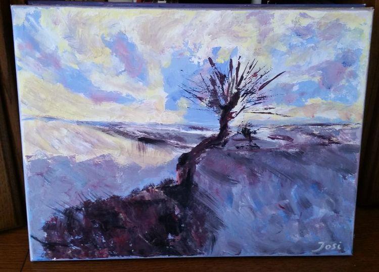 Landschaft, Pflanzen, Zeichnung, Malerei, Baum