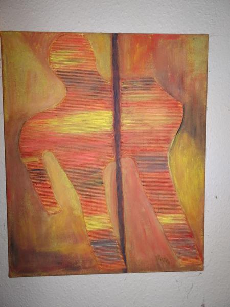 Malerei, Zeichnung, Orange, Abstrakt