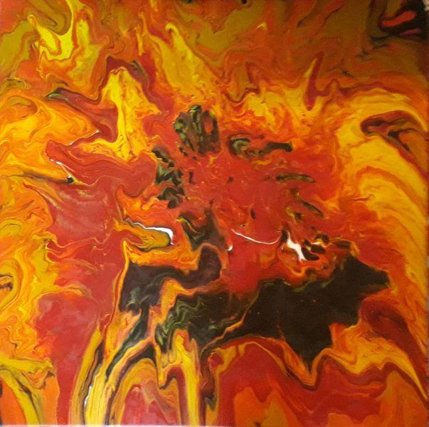 Rot, Gelb, Orange, Malerei, Abstrakt