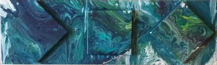 Blau, Türkis, Grün, Malerei, Abstrakt