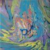 Lila, Blau, Gelb, Malerei
