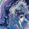 Blau, Türkis, Lila, Malerei