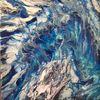 Blau, Weiß, Türkis, Malerei