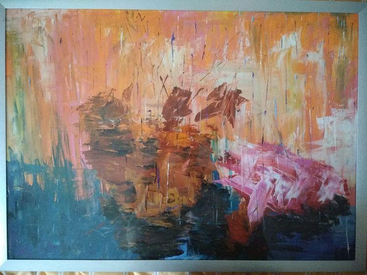 Schiff, Abstrakt, Malerei, Kentern, Surreal, Gouachemalerei